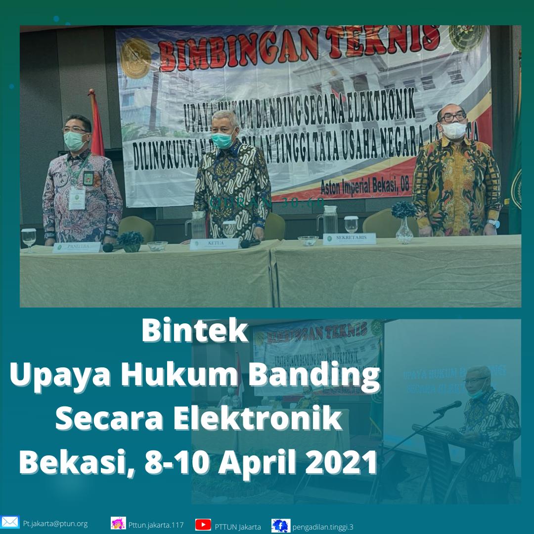 Pembukaan Bintek Upaya Hukum Banding Secara Elektronik Tahun 2021