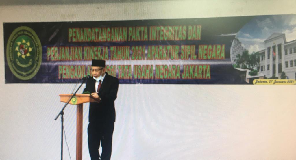 Penandatanganan Pakta Integritas dan Perjanjian Kinerja Kerja PTTUN Jakarta